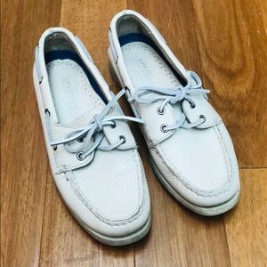 Cream Leather Sperry